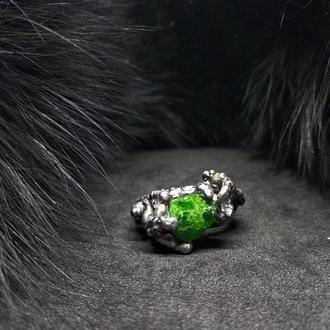 кольцо Зеленолесье, хромдиопсид, олово