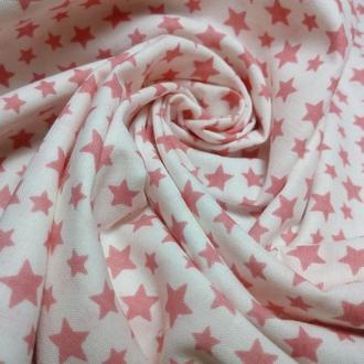 Ткань хлопок коралловые звезды