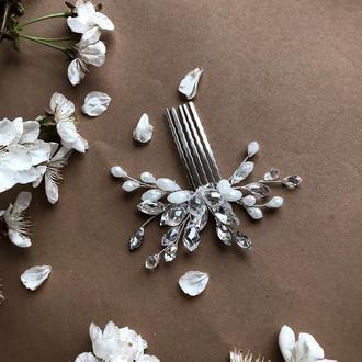 Свадебный гребень с кристаллами
