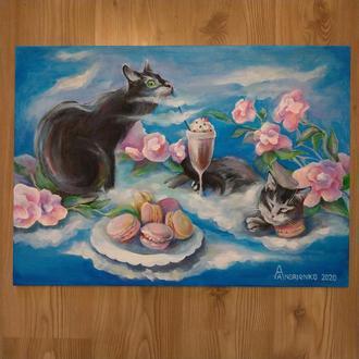 """Картина """"Котячий рай"""""""