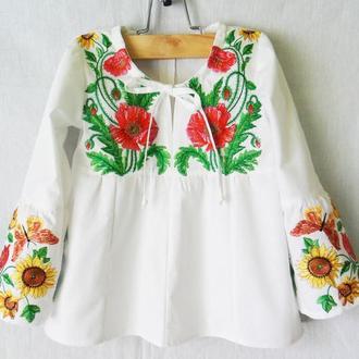 Туника- вышиванка   для девочки