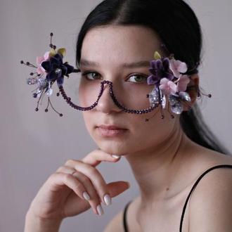Декоративные очки для фотосессии.