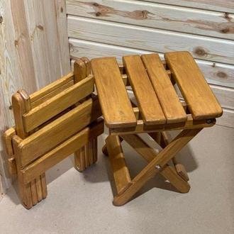 Стільчик дерев'яний розкладний, табурет раскладной, сосновий стілець