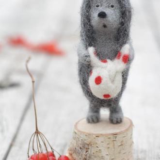 Ёжик в тумане - авторская игрушка