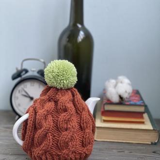 Вязаная грелка шапка для заварника, Грелка на чайник