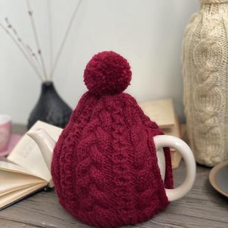 Грелка на чайник заварник, Вязаный декор для дома