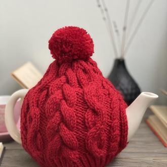 Грелка для чайника заварника, Вязаная Грелка на Чайник, Вязаный Декор для Дома