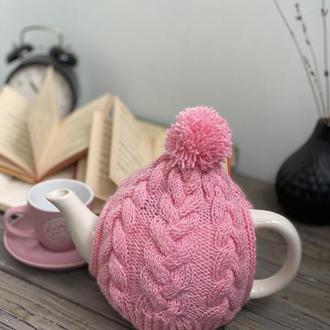 Вязаная Грелка Шапка для Чайника ручной работы, Грелка на Заварник
