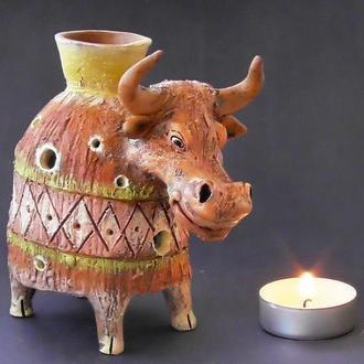 Аромалампа бык подарок в виде быка