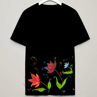 Принт рисунок для печати нанесения на футболку