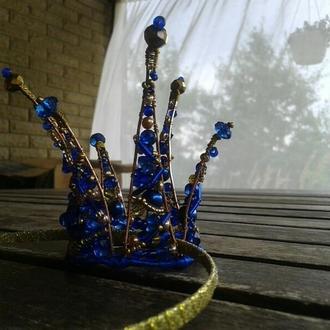 Корона для принцесс. Корона из бусин и бисера.