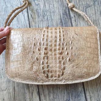 Шикарная женская сумка из кожи крокодила