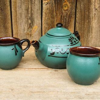 Чайный наборная 2 лица зеленый