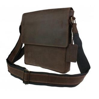 Коричневая мужская кожаная винтажная сумка на плечо 73451S