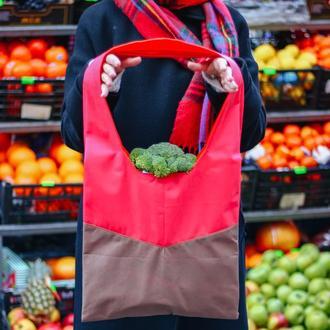 """Малиновая сумка шопер """"Финн"""", красивая и вместительная для покупок  Днепр Киев Одесса"""