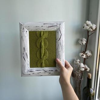Вязаное панно, вязаный декор, картина в интерьер, вязаная картина, картины ручной работы, прованс