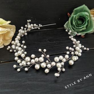Ободок для невесты, свадебный