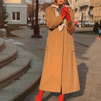 Пальто из натурального кашемира