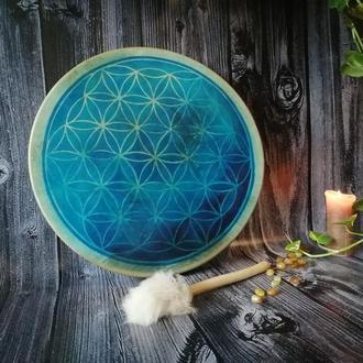 бубен шаманский купить Цветок жизни