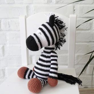 Забавная зебра игрушка из хлопка, подарки для детей, африканские животные, подарок на годик