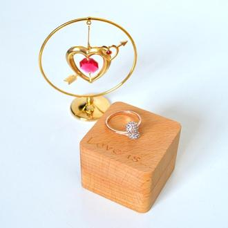 "Шкатулка для кольца ""Love is"" , футляр,шкатулочка,коробочка под обручальное кольцо"