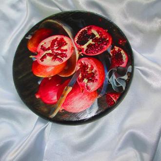Сырная доска ′Гранат′ для оригинальной подачи закусок, для сервировки стола.