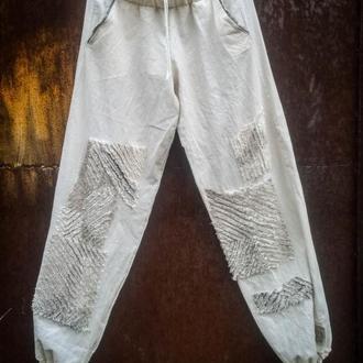 Світло-бавовняні рукОтворні штанці