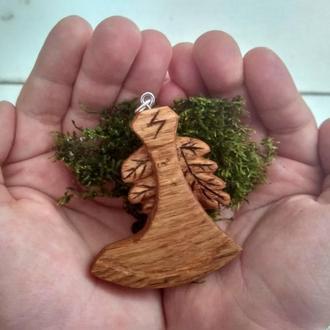 Слов'янський амулет з дерева, сокира Перуна ! Славянский оберег