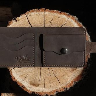Мужской кожаный кошелек VOILE cw1 brn коричневый