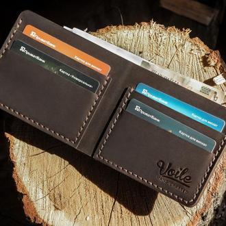 Мужской кожаный бумажник VOILE vl-mw1-brn