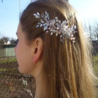 Свадебное украшение для волос, украшение для невесты, гребень для невесты, украшение на свадьбу