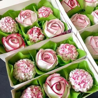 Зефір -квіти з зефіру (троянди,гортензії)