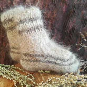 Теплющі носки из собачьей шерсти теплые зимние носки