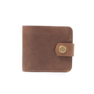 Кожаный бумажник небольшого размера. 08004/коньяк