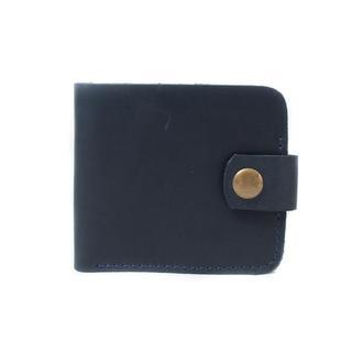 Кожаный бумажник ручной работы. 08004/синий