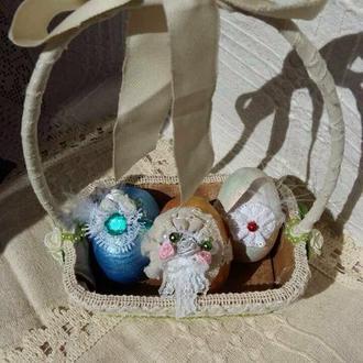 Декоративная Пасхальная корзинка