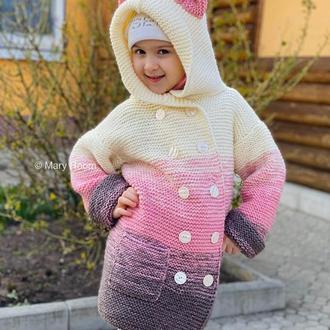 В'язане пальто дитяче