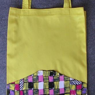 """Эко сумка """"желтая"""""""