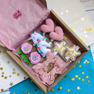 Подарок для девочки, подарунок для дівчинки,заколки,резинки