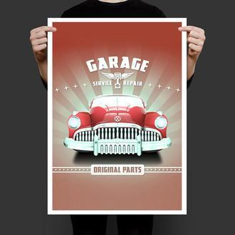 Постер Автосервис гараж