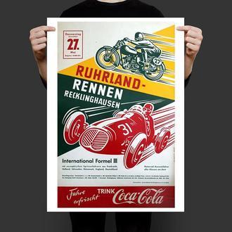 Постер Ретро Ралли Формула 3