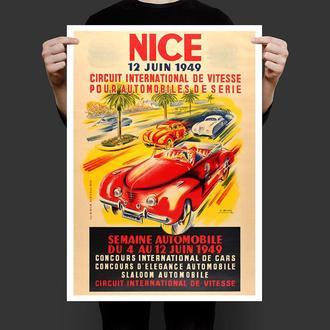 Ретро постер Автомобильное ралли