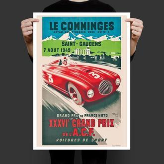 Постер Автомобильное Гран При 1949 года