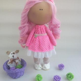 Интерьерная кукла Розовый ангел