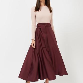 """Длинная юбка с широким поясом """"NICO"""""""