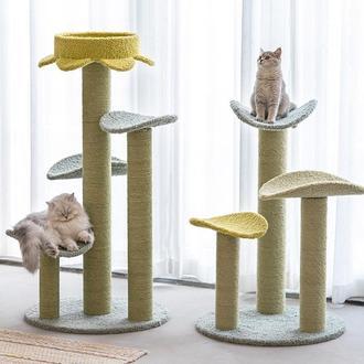 """Большая когтеточка """"Принглс"""". Игровой комплекс для кошек. Когтеточка с лежанкой"""