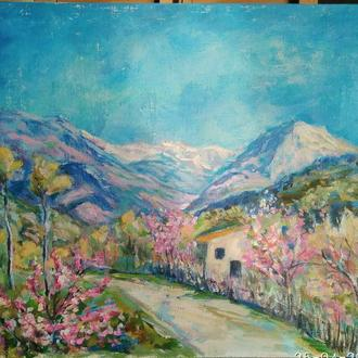 Картина. Весна в Італії. За мотивами роботи І. Левітана