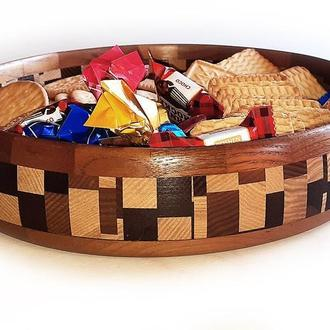 Деревянная декоративная тарелка