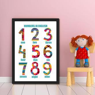 Постер Цифры на английском языке