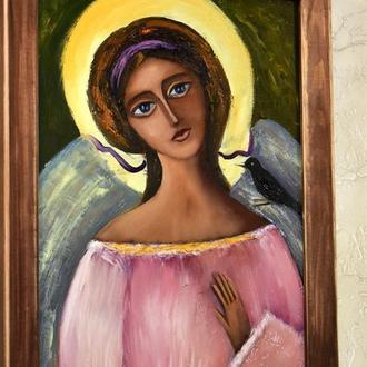 Научи меня ангел, картина,размер 25х35см